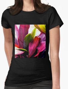 Ti Leaf Bouquet Womens Fitted T-Shirt