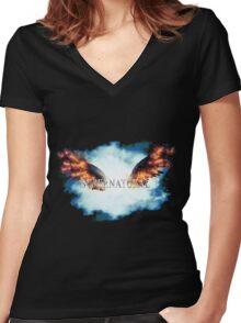 Supernatural Descent Women's Fitted V-Neck T-Shirt
