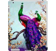"""PEACOCK FAMILY"" Art Deco Landscape Print iPad Case/Skin"