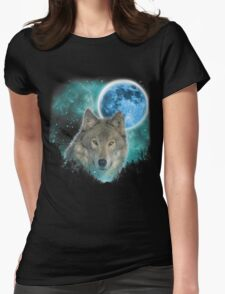 Grey Wolfs Skylight Womens Fitted T-Shirt