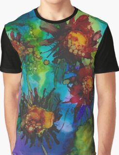 Quad Floral 2 Chifon Graphic T-Shirt