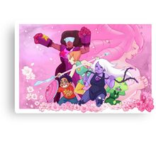 Gems and Flowers Canvas Print
