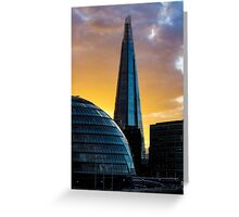 the shard and city hall Greeting Card