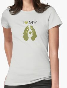 I Love My Basset Hound Womens Fitted T-Shirt