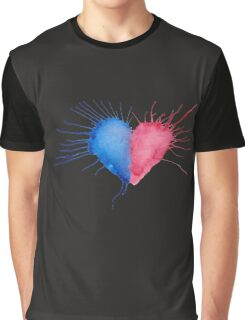 Watercolor Heart  Graphic T-Shirt