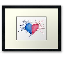 Watercolor Heart  Framed Print