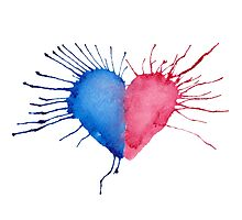 Watercolor Heart  Photographic Print