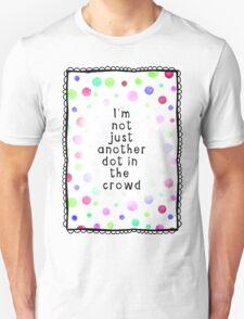 dot white Unisex T-Shirt