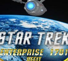 Star trek Federation of Planets Enterprise Refit 2 Sticker