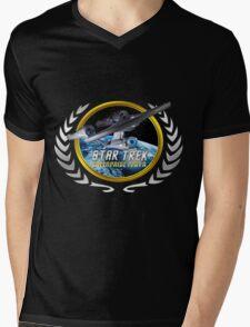 Star trek Federation of Planets Enterprise 1701 A Mens V-Neck T-Shirt