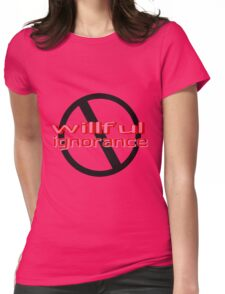 Ban Willful Ignorance (pink) Womens Fitted T-Shirt