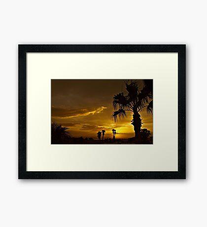 Golden Sky Framed Print