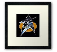 StarTrek Enterprise 1701 A  Command Signia Chest Framed Print