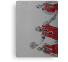 Miami Heat Big Three Canvas Print