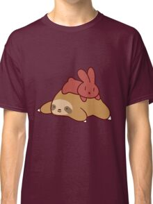 Sloth and Bunny Classic T-Shirt