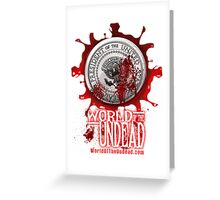 World of the Undead - Presidential Seal Greeting Card