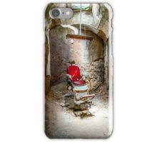 At the Barbershop iPhone Case/Skin