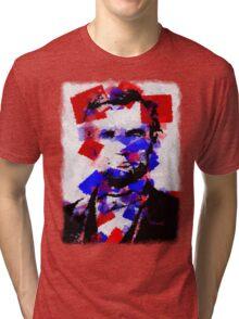Abraham Lincoln Abstract 01 Tri-blend T-Shirt