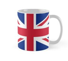UK Union Jack flag - Authentic version (Duvet, Print on Blue background) Mug