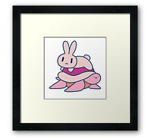 Bunny and Turtle Framed Print