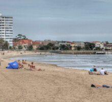 St Kilda Beach Panorama Sticker