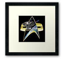 StarTrek Enterprise NX01 Com badge Framed Print