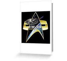 StarTrek Enterprise NX01 Com badge Greeting Card