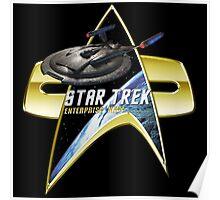 StarTrek Enterprise NX01 Com badge Poster