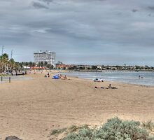 St Kilda Beach Panorama by Adrian Paul