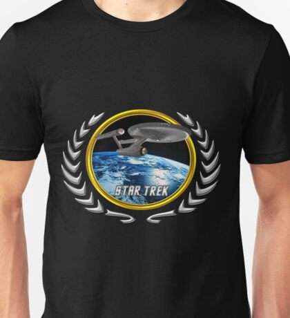 Star trek Federation of Planets Enterprise 1701 old Unisex T-Shirt