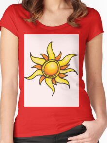 Tangled Up in the Sun Women's Fitted Scoop T-Shirt
