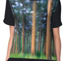~ the blue confetti forest ~ Women's Chiffon Top