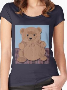 Wes T. Bear Women's Fitted Scoop T-Shirt