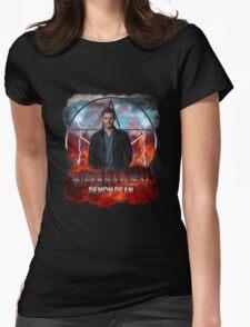 Supernatural Demon Dean  Womens Fitted T-Shirt