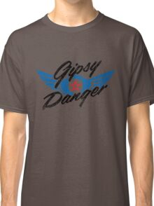 Gipsy Danger Distressed Logo in Black Classic T-Shirt