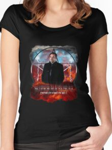 Supernatural Crowley King of Hell Women's Fitted Scoop T-Shirt