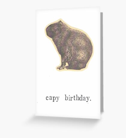 Capy Birthday Greeting Card
