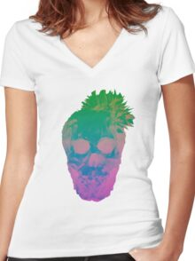 The Vibrant Stare Women's Fitted V-Neck T-Shirt