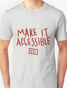 Make It Accessible Captioning Tank Unisex T-Shirt
