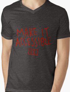 Make It Accessible Captioning Tank Mens V-Neck T-Shirt