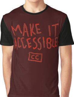Make It Accessible Captioning Tank Graphic T-Shirt