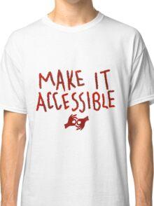 Make It Accessible Interpreting Tank Classic T-Shirt