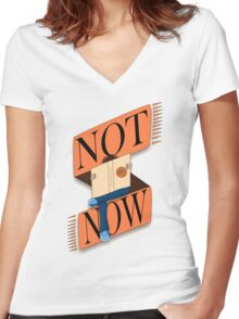 Not now, I'm reading Women's Fitted V-Neck T-Shirt