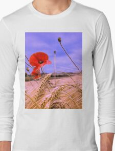 Barley with Poppies Long Sleeve T-Shirt