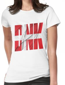 DNK - Danmark Flag Womens Fitted T-Shirt