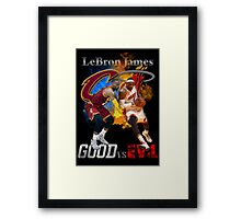 good vs evil Framed Print