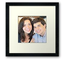 sister and brother Framed Print
