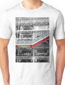 Red Slash no. 3, Centre Pompidou Unisex T-Shirt