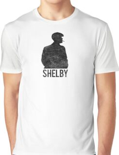 Peaky Blinders - Shelby Silhouette - Black Dirty Graphic T-Shirt