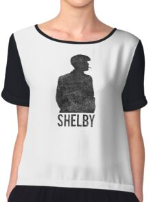 Peaky Blinders - Shelby Silhouette - Black Dirty Women's Chiffon Top